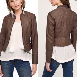 Anthropologie Hei Hei Dara Vegan Leather Jacket
